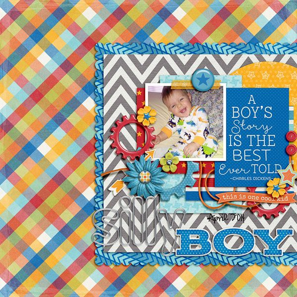 Everyday Life: It's A Boy Thing   Collection by Tickled Pink Studio and Designs by Megan Turnidge Font: Pea Hannah Vanilla Layout by emmylou