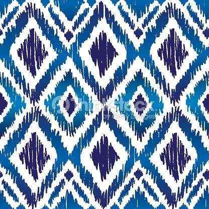 벡터 아트 : 이카트 Ogee 패턴