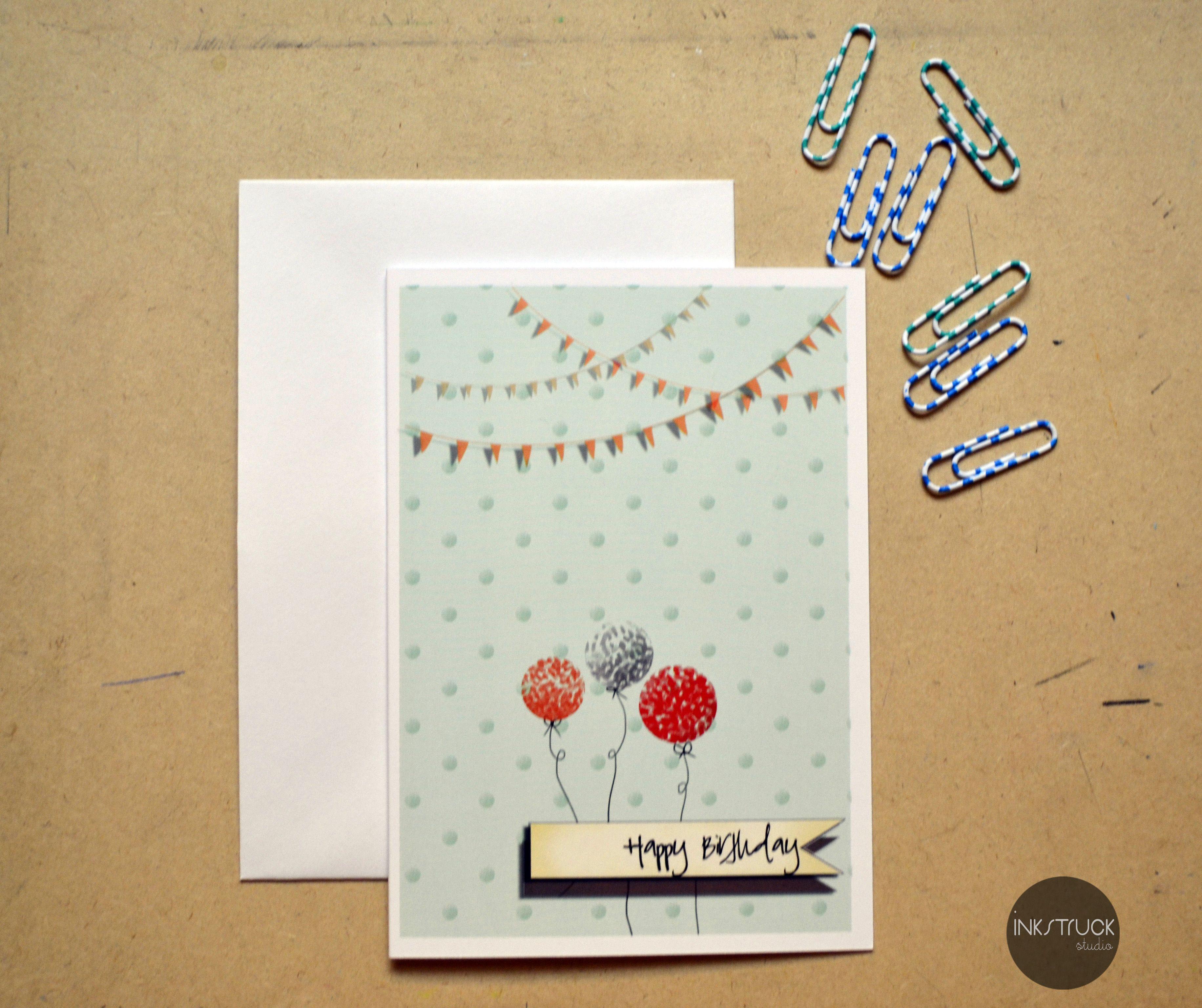 Balloon birthday card greeting card gc003 every birthday balloon birthday card greeting card gc003 every birthday kristyandbryce Image collections