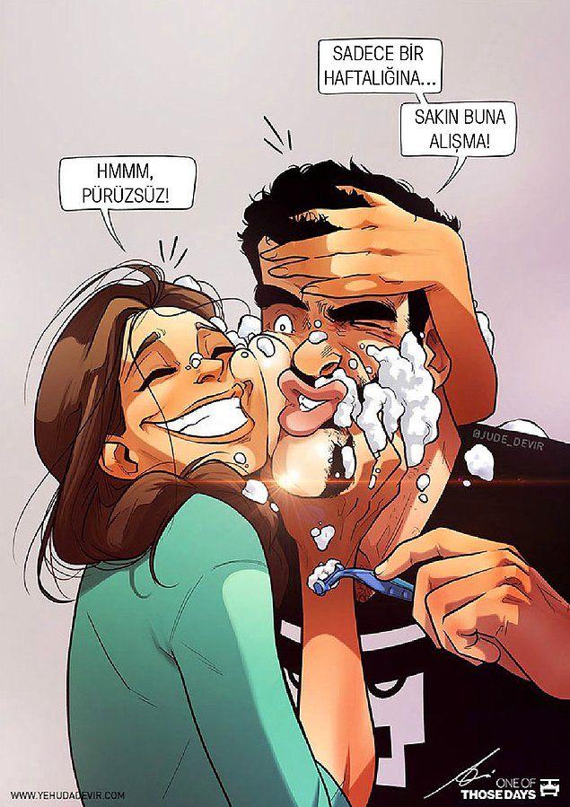 Günlük Hayatlarında Yaşadıkları Tatlı Maceraları Komik Bir Dille Anlatan Çiftten 17 Eğlenceli İllüstrasyon