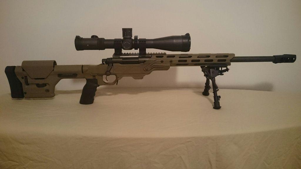 Cadex Field Strike with Magpul PRS in Tan/FDE Remington 700