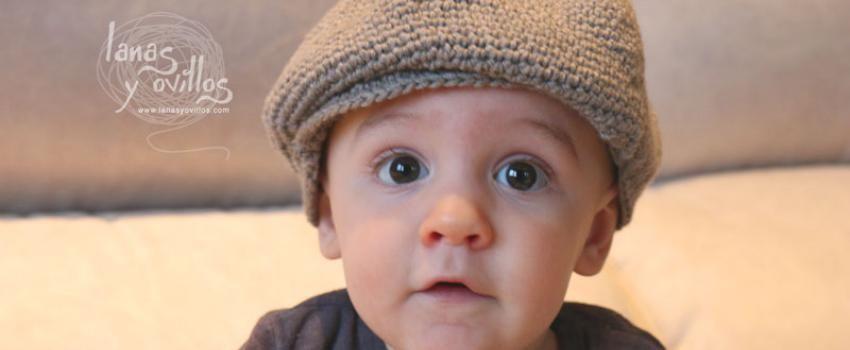 Crochet patrón gorro bebé boina gratis con video tutorial   Crochet ...