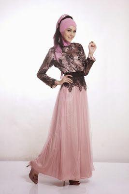 Baju Gamis Muslim Brokat Dress Reference Kebaya Muslim Gaun