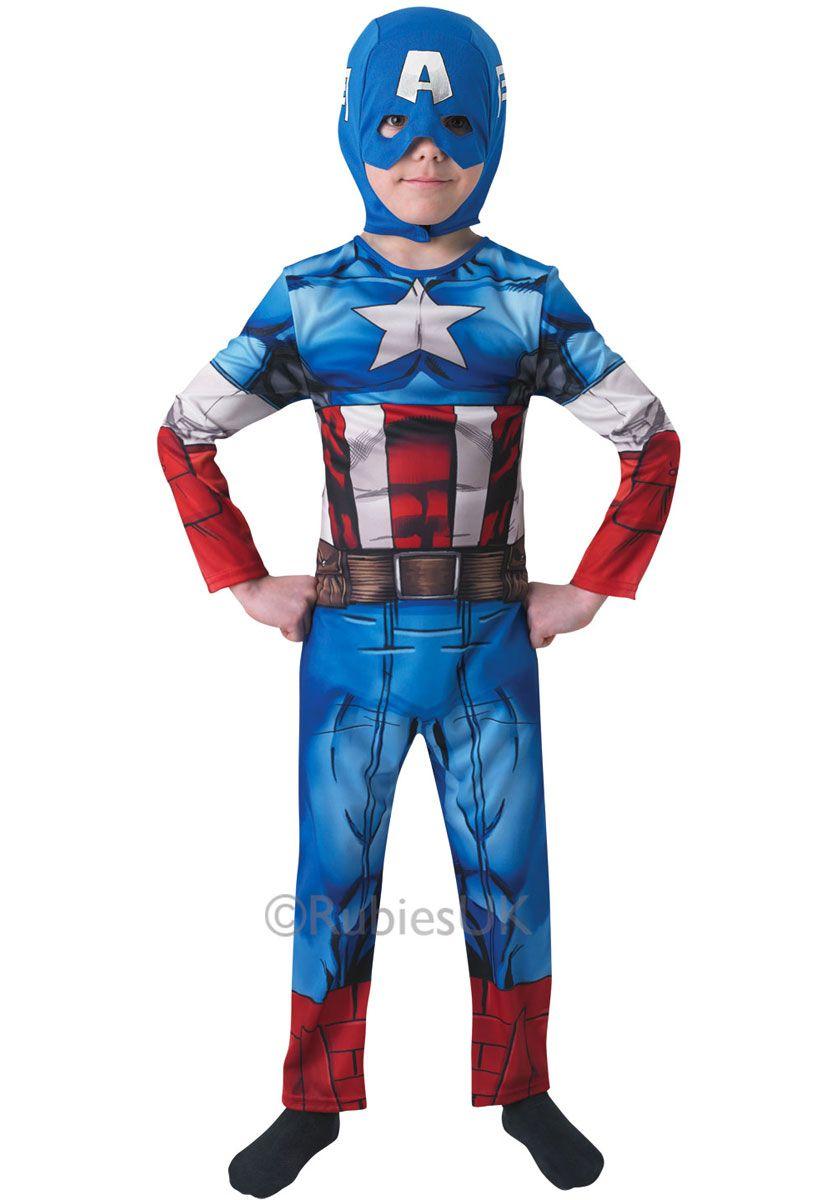 Kids Captain America Costume - Classic Marvel Fancy Dress - General Kids Costumes at Escapade™  sc 1 st  Pinterest & Kids Captain America Costume - Classic Marvel Fancy Dress - General ...