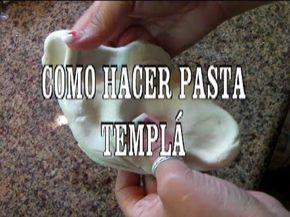 DIY PASTA FLEXIBLE PARA MODELAR,SECADO AL AIRE, PASTA TEMPLÁ MANUALIDADES - YouTube