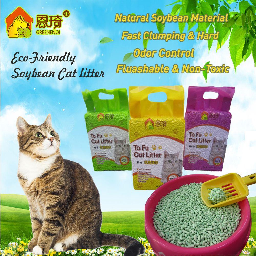 Biodegradable Tofu Cat Litter 7 colors Cat litter, Best