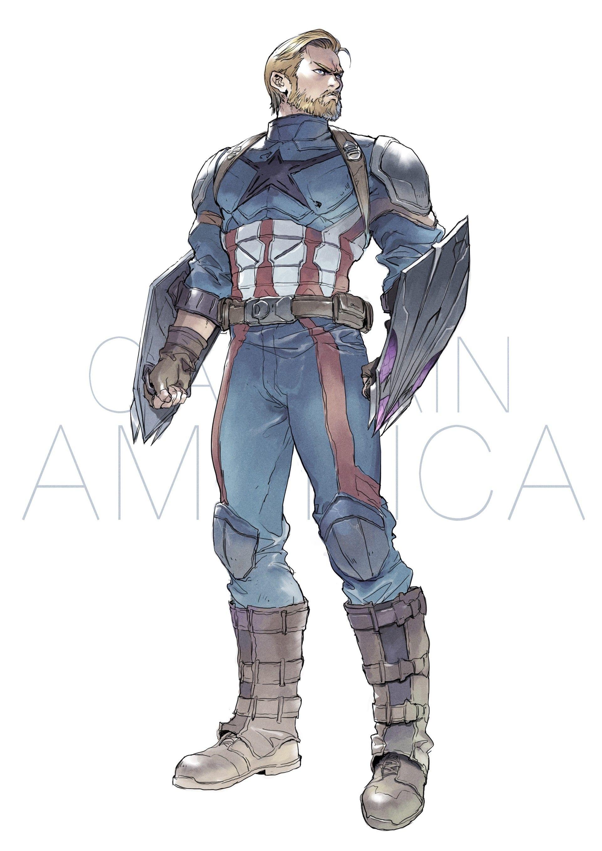 Artstation Captain America Devon Pan Marvel Artwork Marvel