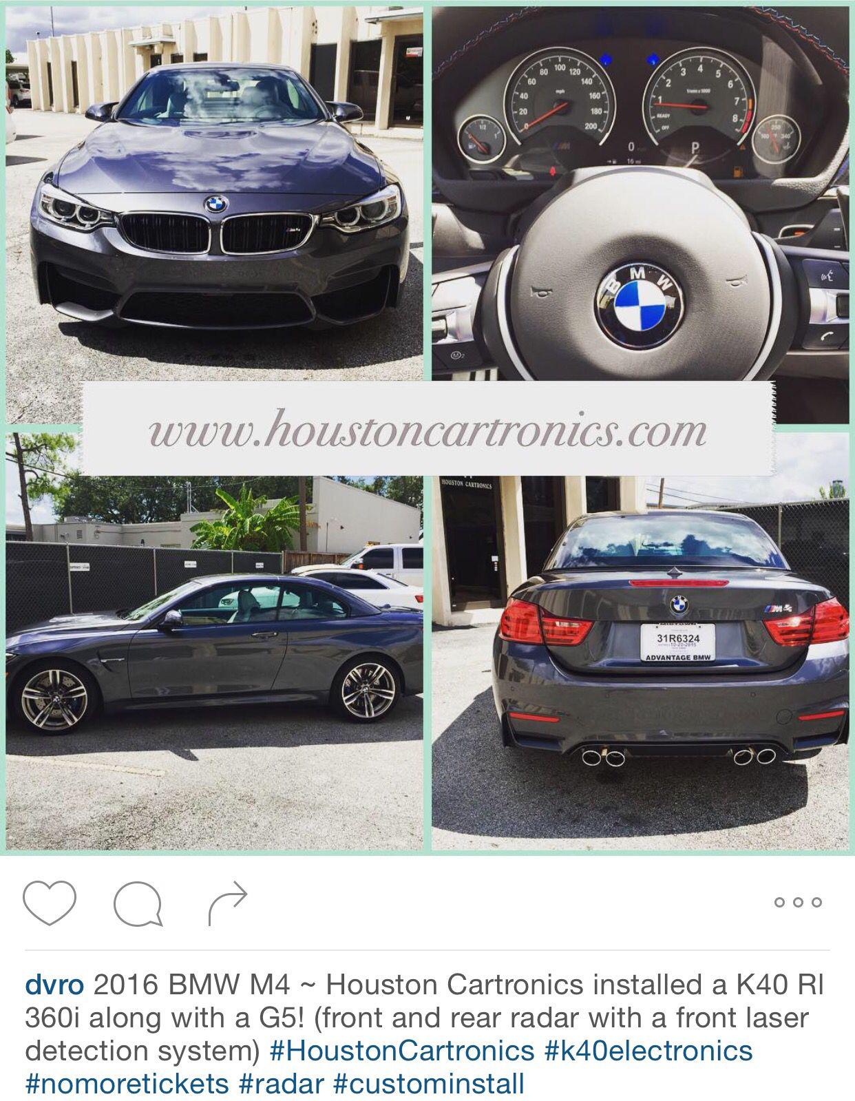 2016 BMW M4 Custom K40 install by Houston Cartronics