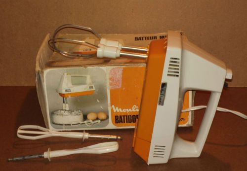 best choice outlet store best authentic Détails sur Batteur MOULINEX orange vintage ancien minor 2 ...