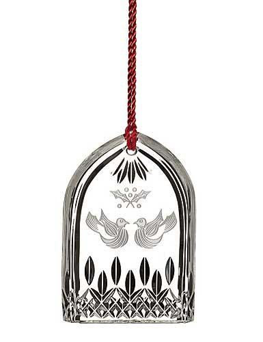 Waterford Lismore Two Turtle Doves Ornament 2015
