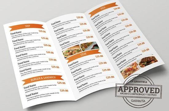 Resultado De Imagen De Folletos Pizzeria Diseno Plantillas De Cartas Cartas De Menu Plantilla De Menu De Restaurante