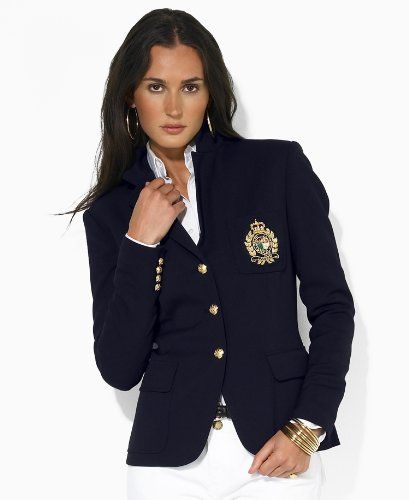 1359e29610796 Ralph Lauren Navy Crest Blazer. Bought it. Love it!
