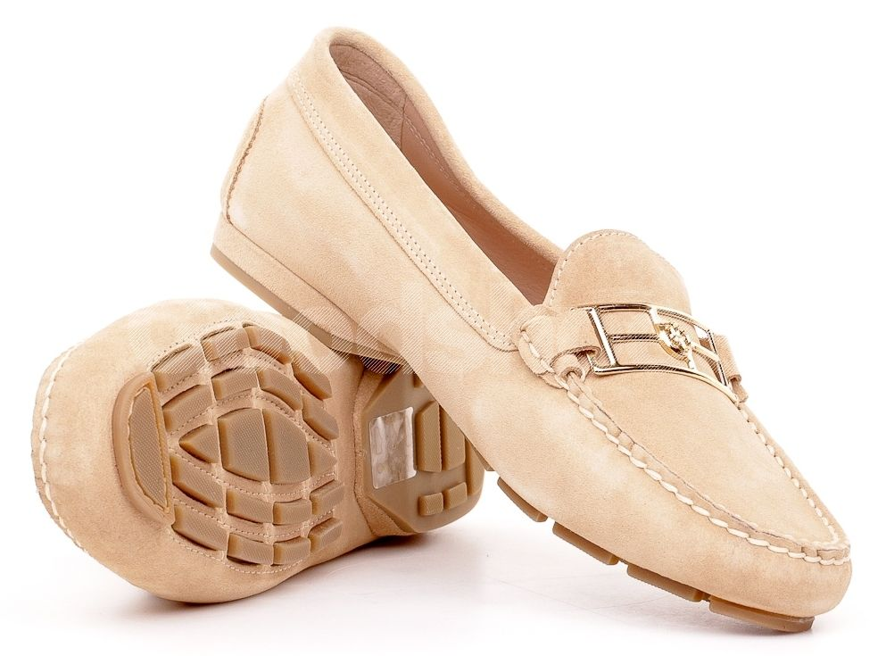 Mokasyny Damskie Fabi Bezowe Zamszowe 14 Fd0505 Loafers Moccasins Shoes