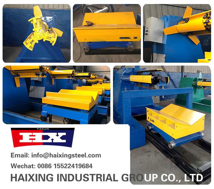China 5 Ton Hydraulic Galvanized Steel Coil Uncoiler Manufacturers, Suppliers - Price - Haixing