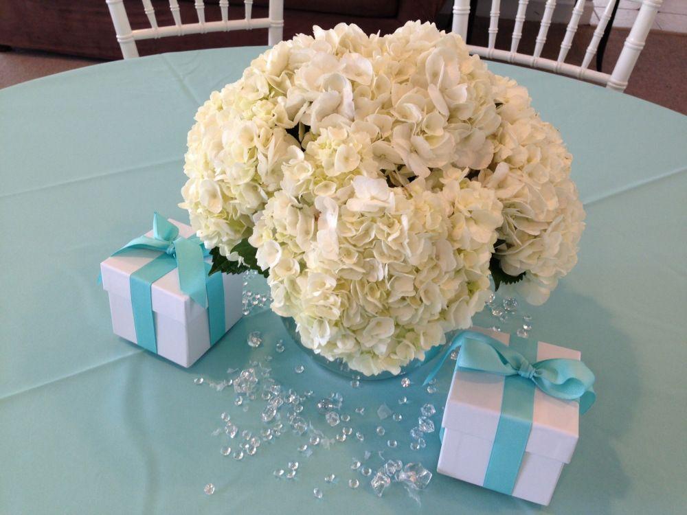 Tiffany bridal shower white hydrangea quot blue