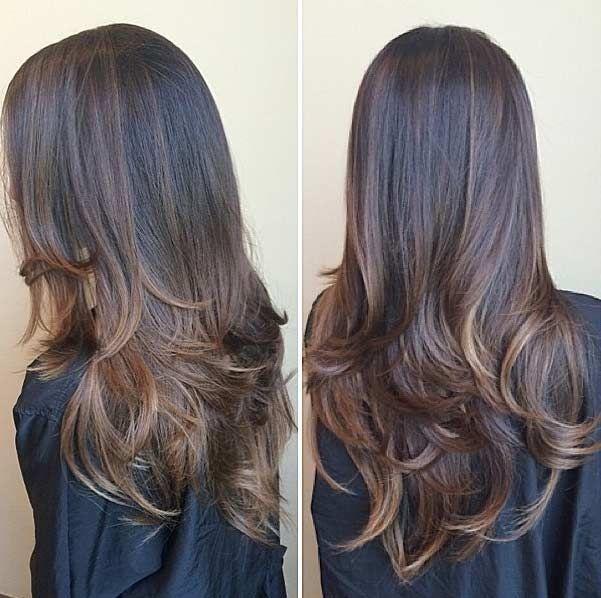 Long, Layered Haircut With Lowlights