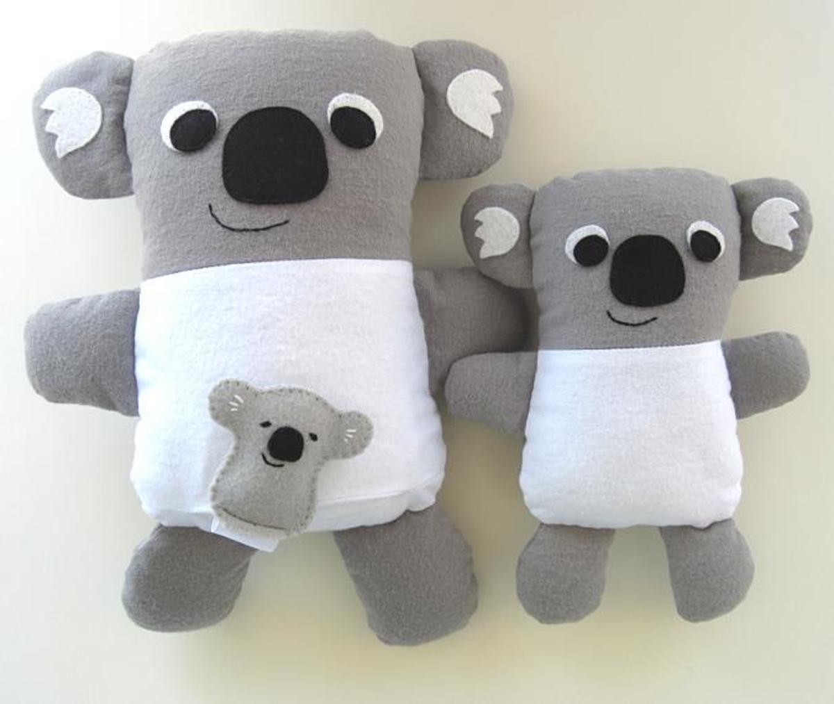 Stuffed koala toys pdf sewing pattern pdf sewing patterns stuffed koala toys pdf sewing pattern jeuxipadfo Choice Image