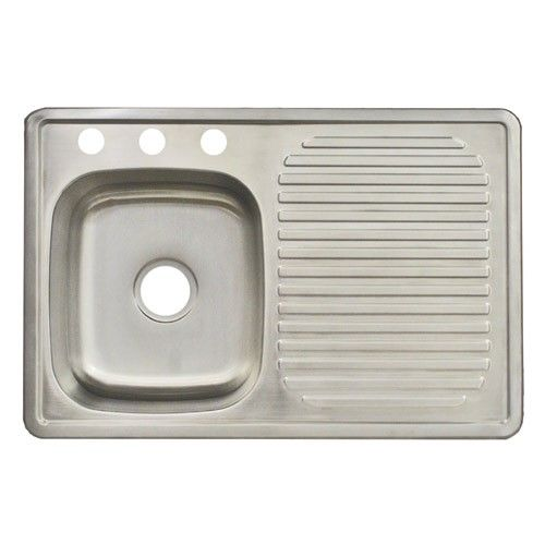 Franke Fdbs703bx 3 Hole Single Bowl Top Mount Kitchen Utility Sink Stainless Steel Drainboard Sink Stainless Steel Kitchen Sink Stainless Steel Drainboard