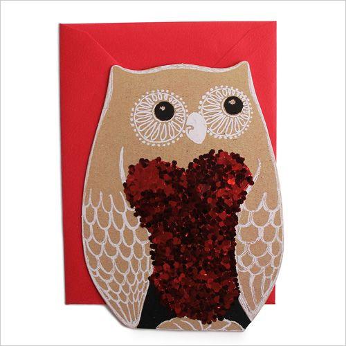 Valentine's Day Owl Card