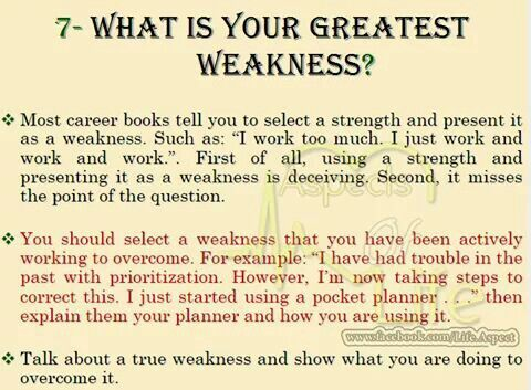 What Is Your Greatest Weakness Job Interview Job Interview