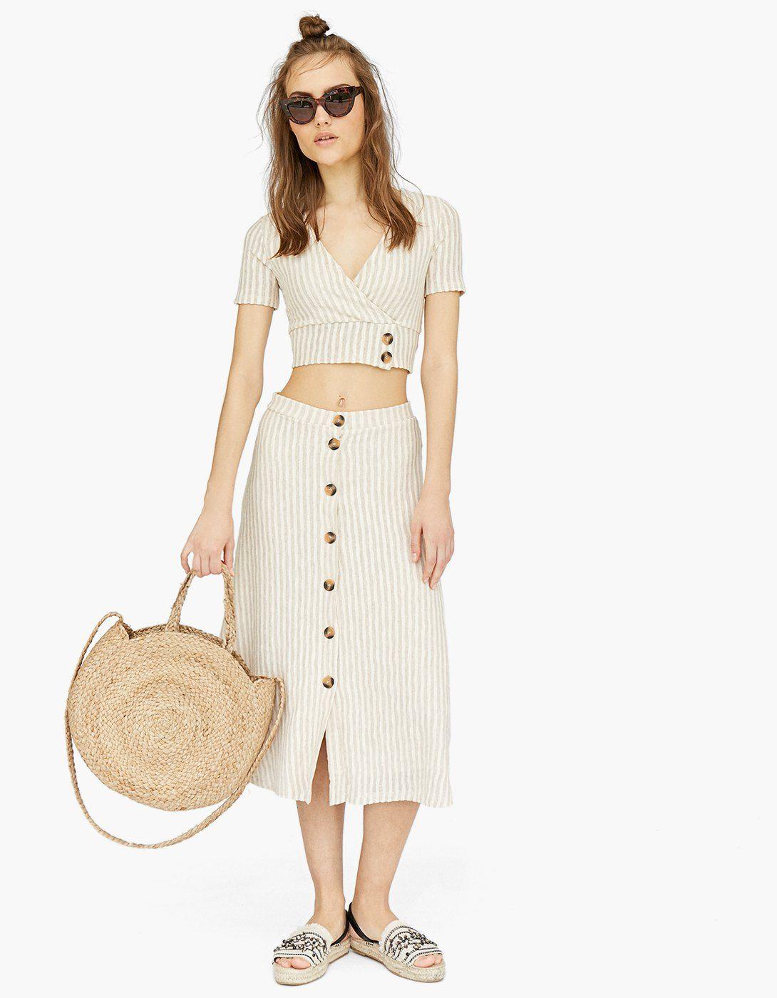 últimas tendencias de 2019 la compra auténtico selección asombrosa Spódnica midi w rustykalnym stylu | clOthes | Ropa de moda ...
