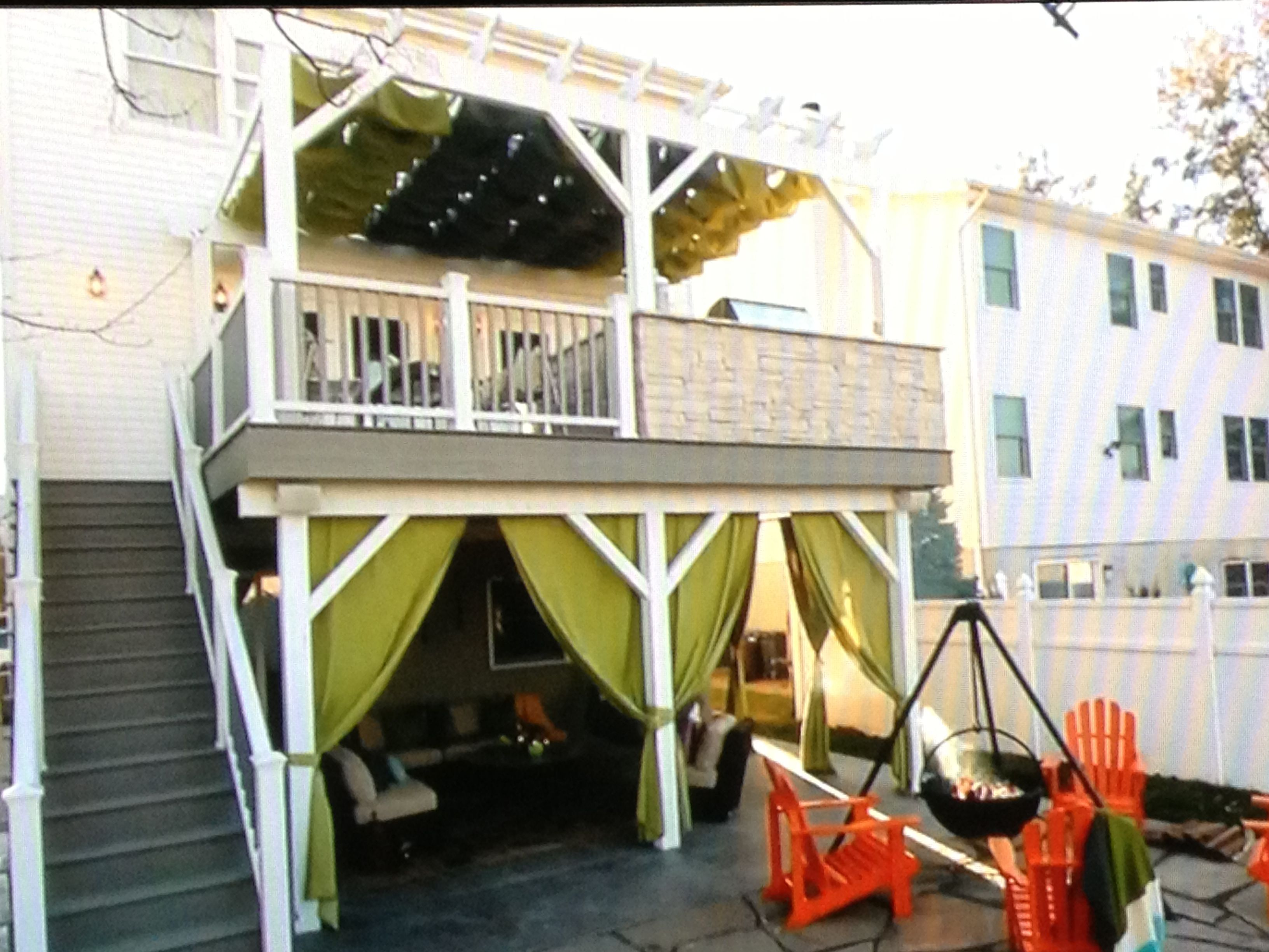 Quaint Deck Space From Property Brothers On Hgtv Beautiful Patios Backyard House