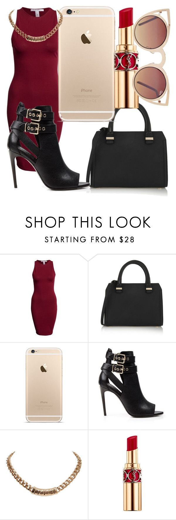 """""""Untitled #269"""" by sashajl03 ❤ liked on Polyvore featuring NLY Trend, Victoria Beckham, Burberry, Givenchy, Yves Saint Laurent and Quay"""