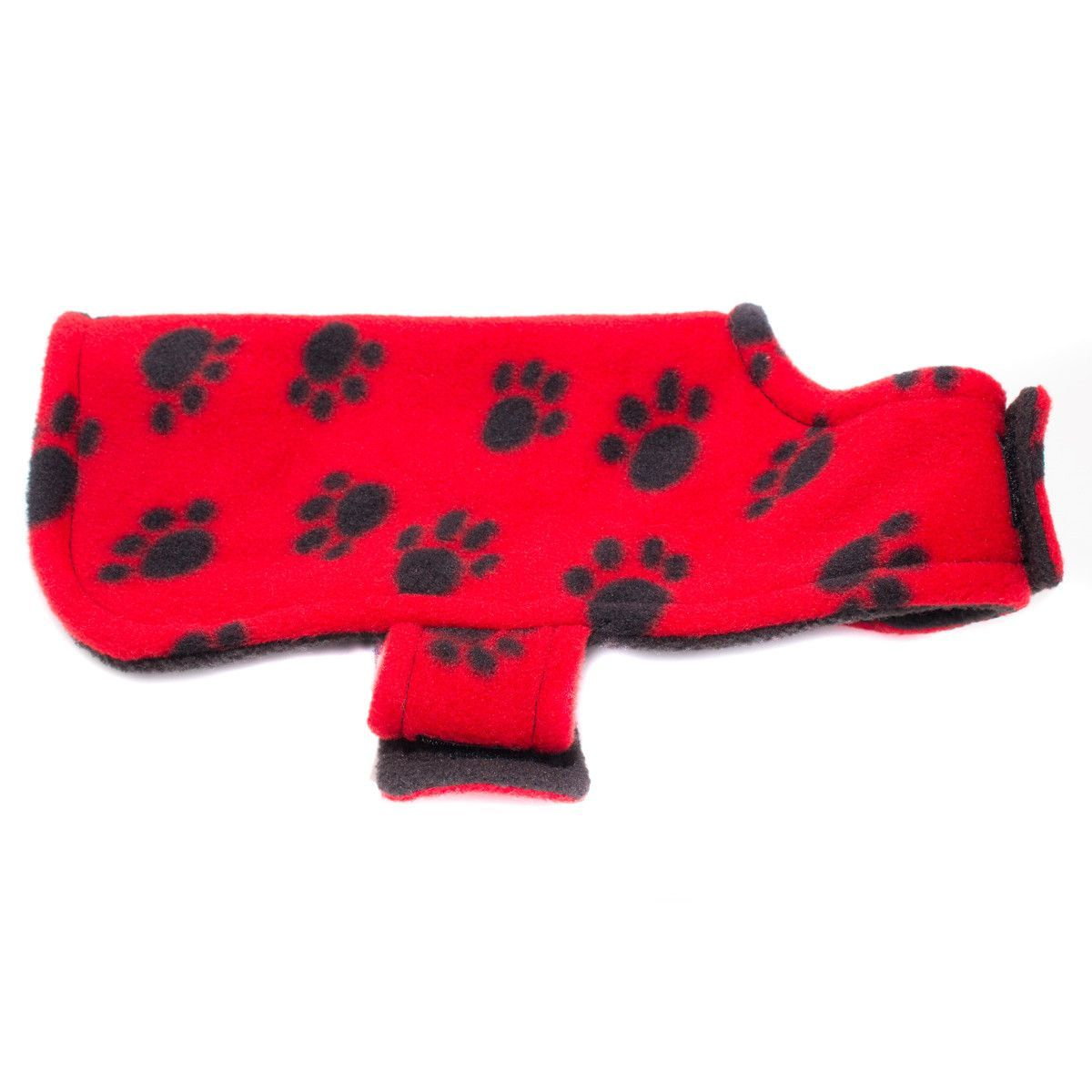 Creative Works Red Paw Fleece Dog Coat