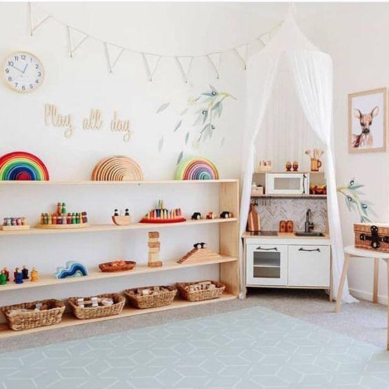 Photo of Rainbow Building Blocks Set Diy Wood Toys Fun Educational Toy Scandinavian Decor