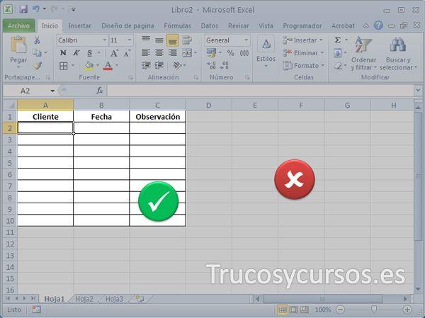Limitar el área de trabajo de una hoja Excel | braille | Pinterest ...