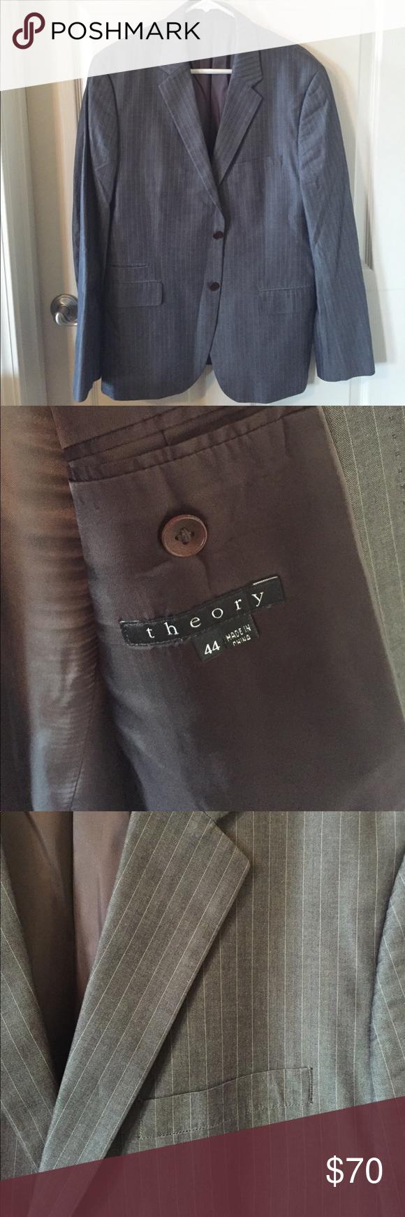 Theory Blazer Mens grey with small pinstriped Theory blazer. Size 44. Theory Suits & Blazers Sport Coats & Blazers