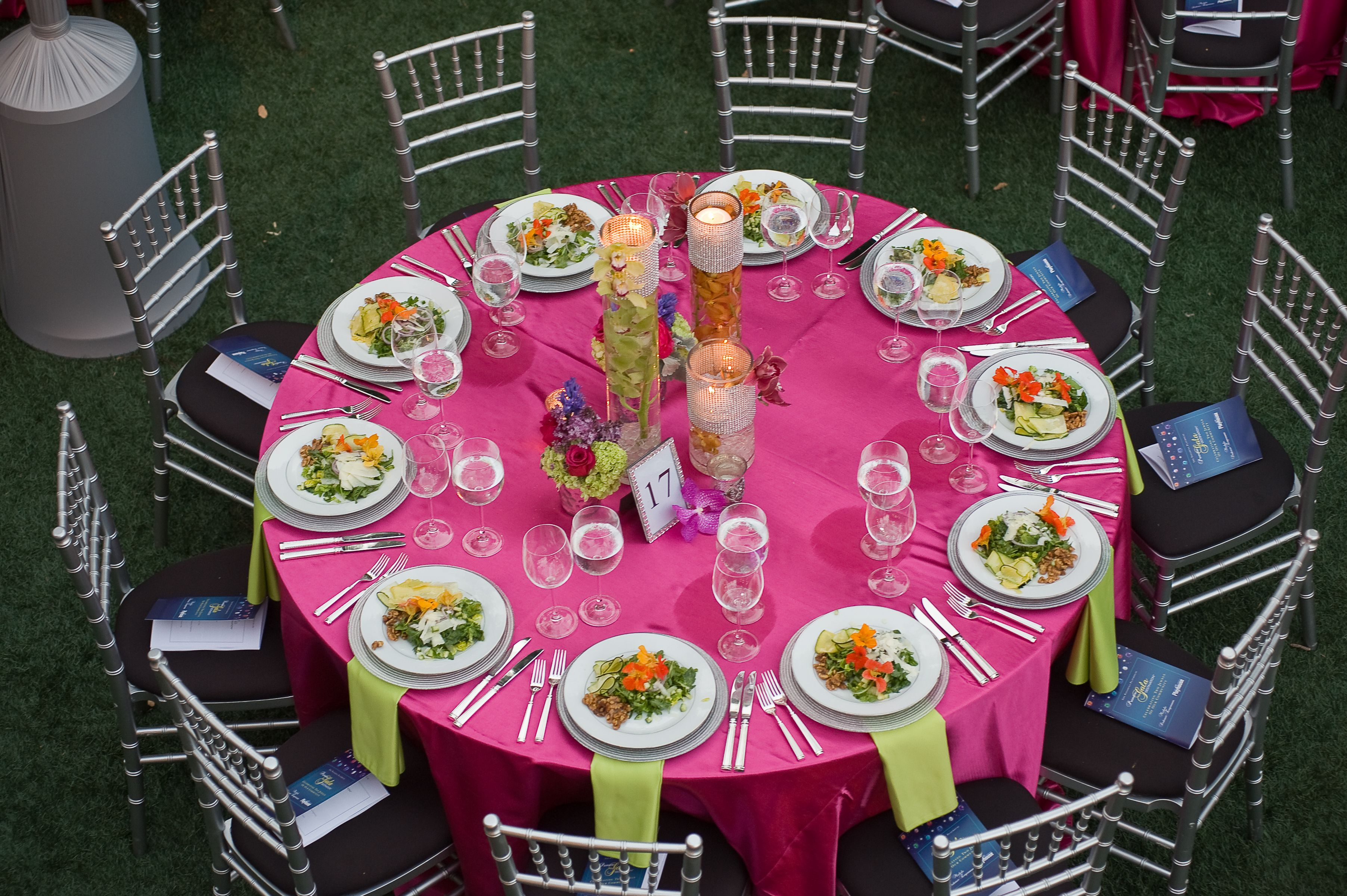 Hot Pink! These Table Linens Make This Event Pop. Thank You To Partner Doyle