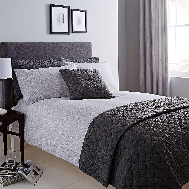 Jasper Grey Bed Linen Collection Dunelm Gray duvet