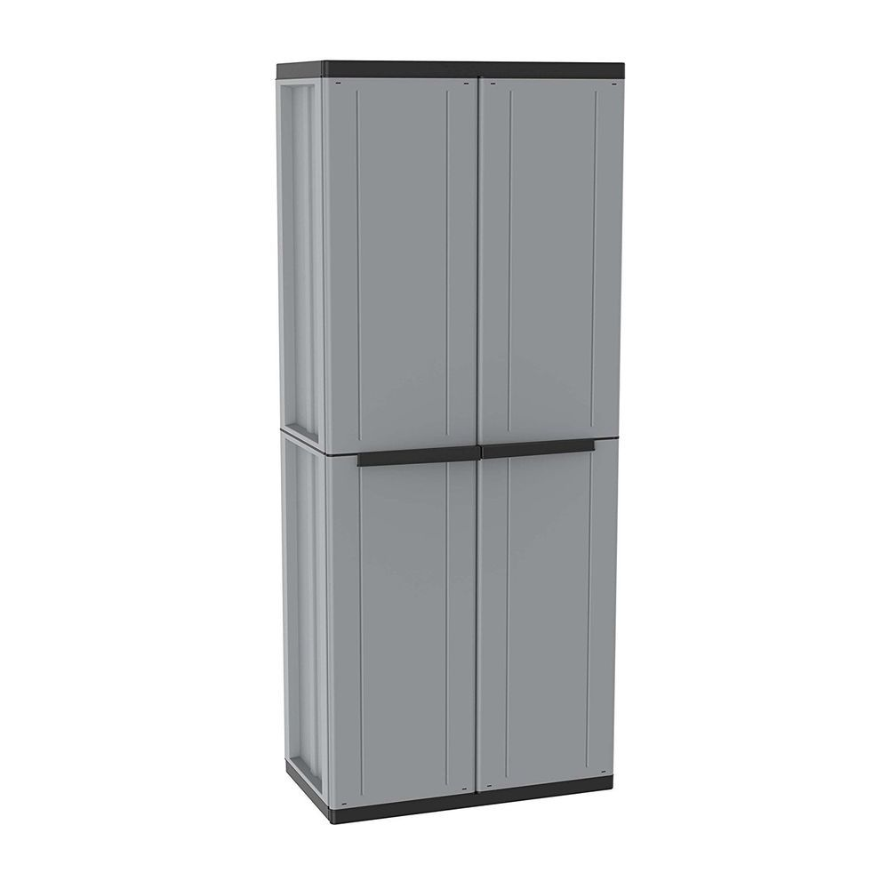 Wardrobe Broom Two Door Grey New Wardrobebroomuk Wardrobebroom Plastic Cupboard Plastic Storage Cabinets Cupboard Storage