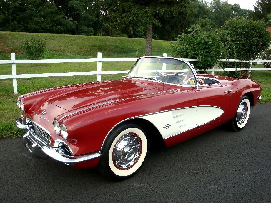 1961 Corvette. Best looking Vet ever built. The Red and White with ...