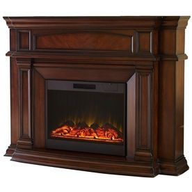 649 00 Allen Roth 62 In Mink Electric Fireplace Item 386382