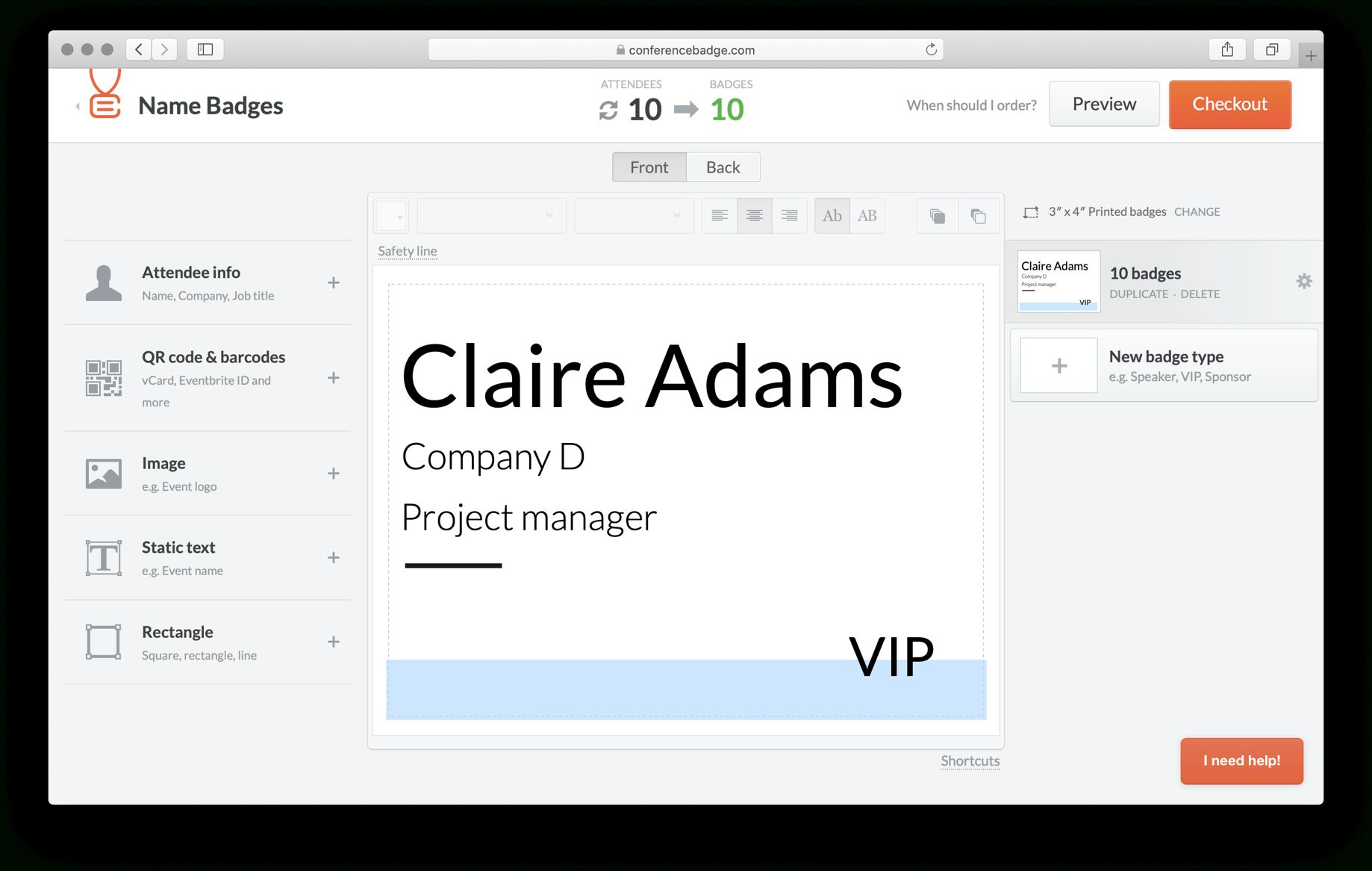 how to make name badges in word 2010