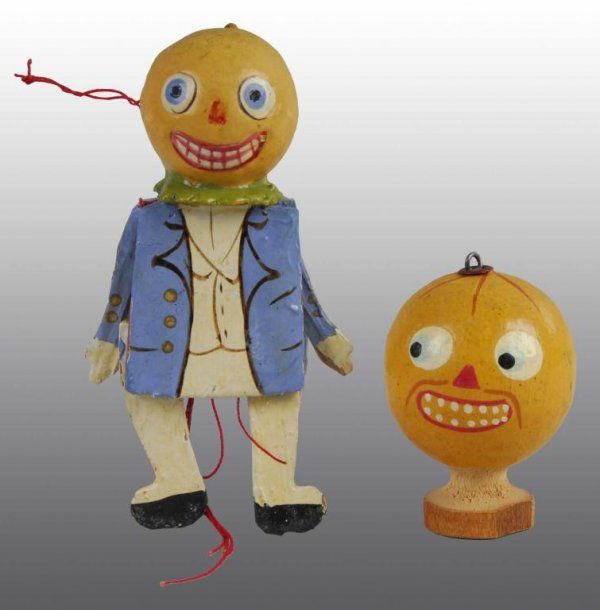 2428: Lot of 2: Wooden Halloween Toys. : Lot 2428