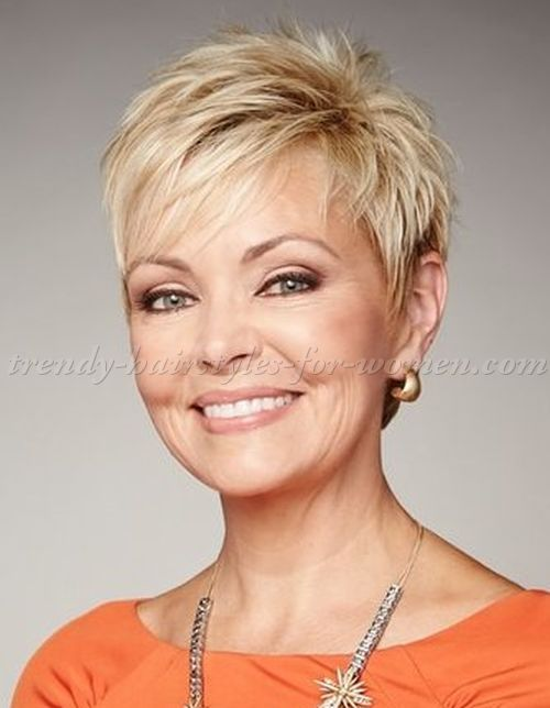 Short Hairstyles Over 50 Blonde Pixie