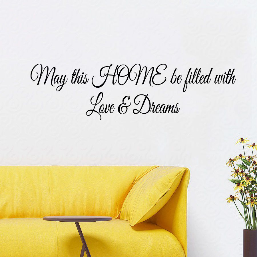 Family Wall Decals Quote Vinyl Sticker Love Dreams Decal Art Bedroom ...