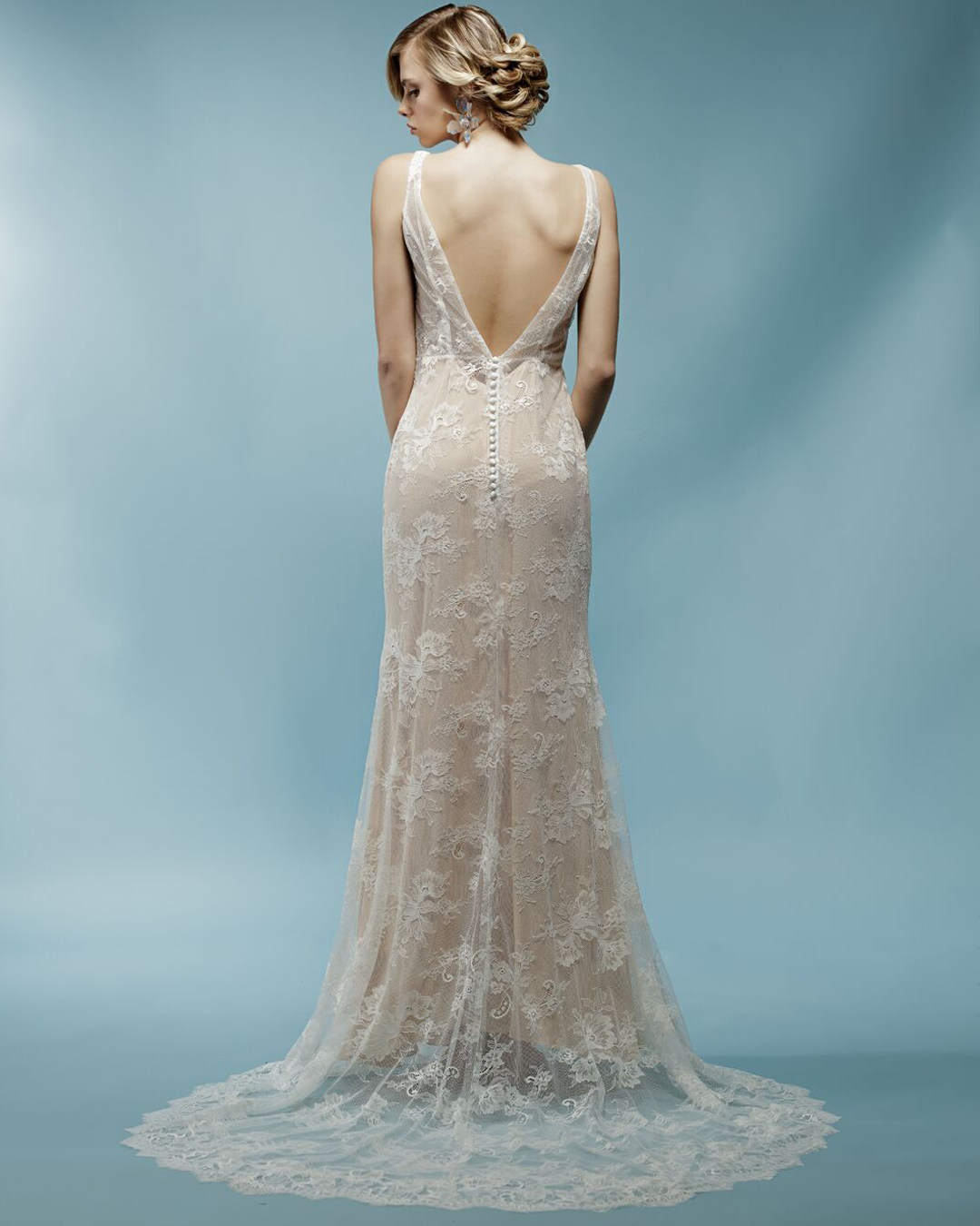 Jacqueline, Spring 2018 collection | nude lace wedding dress | Ivy ...