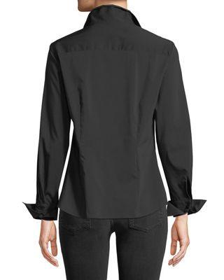 04183eb3566c59 Finley Revere-Collar Poplin Shirt w/ French Cuffs | Products ...