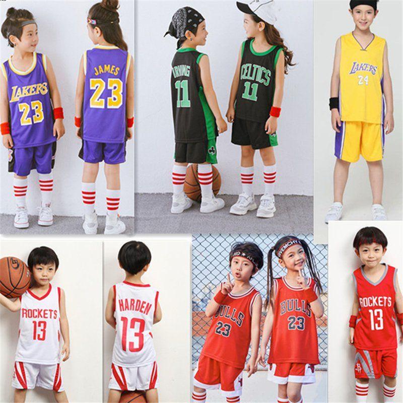 Teenager Los Angeles Lakers Mamba Basketball Uniform 24