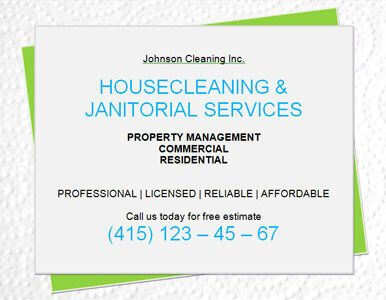 house cleaning flyer examples