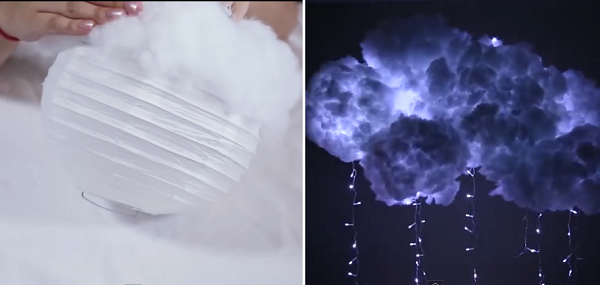 Make your room look heavenly with these DIY light up cloud lamps. With  clear and