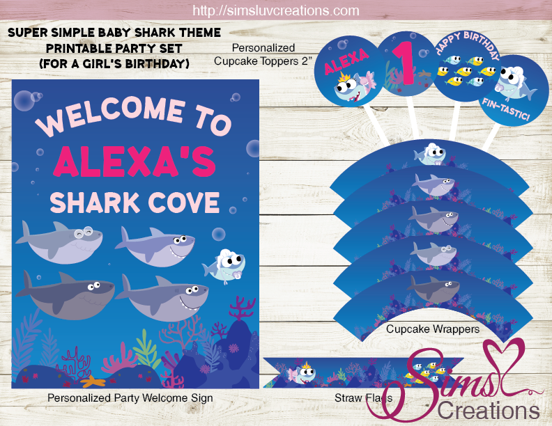 Super simple baby shark party supplies   shark party ...