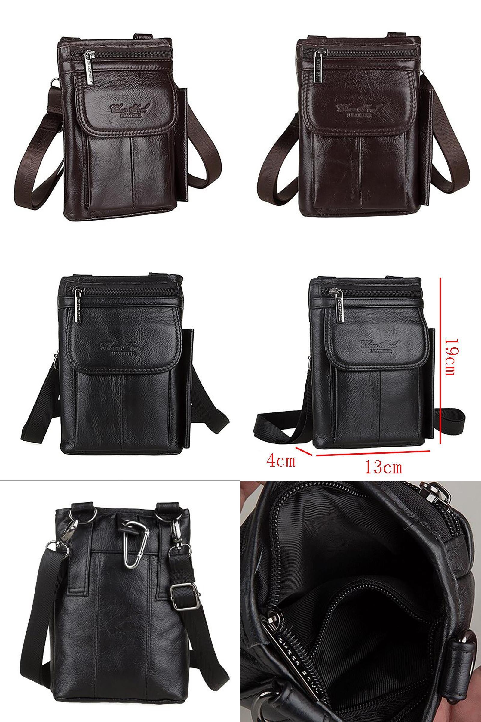 Genuine Leather Small Shoulder Bag Men Hip Fanny Cell Phone Case Waist Belt Pack