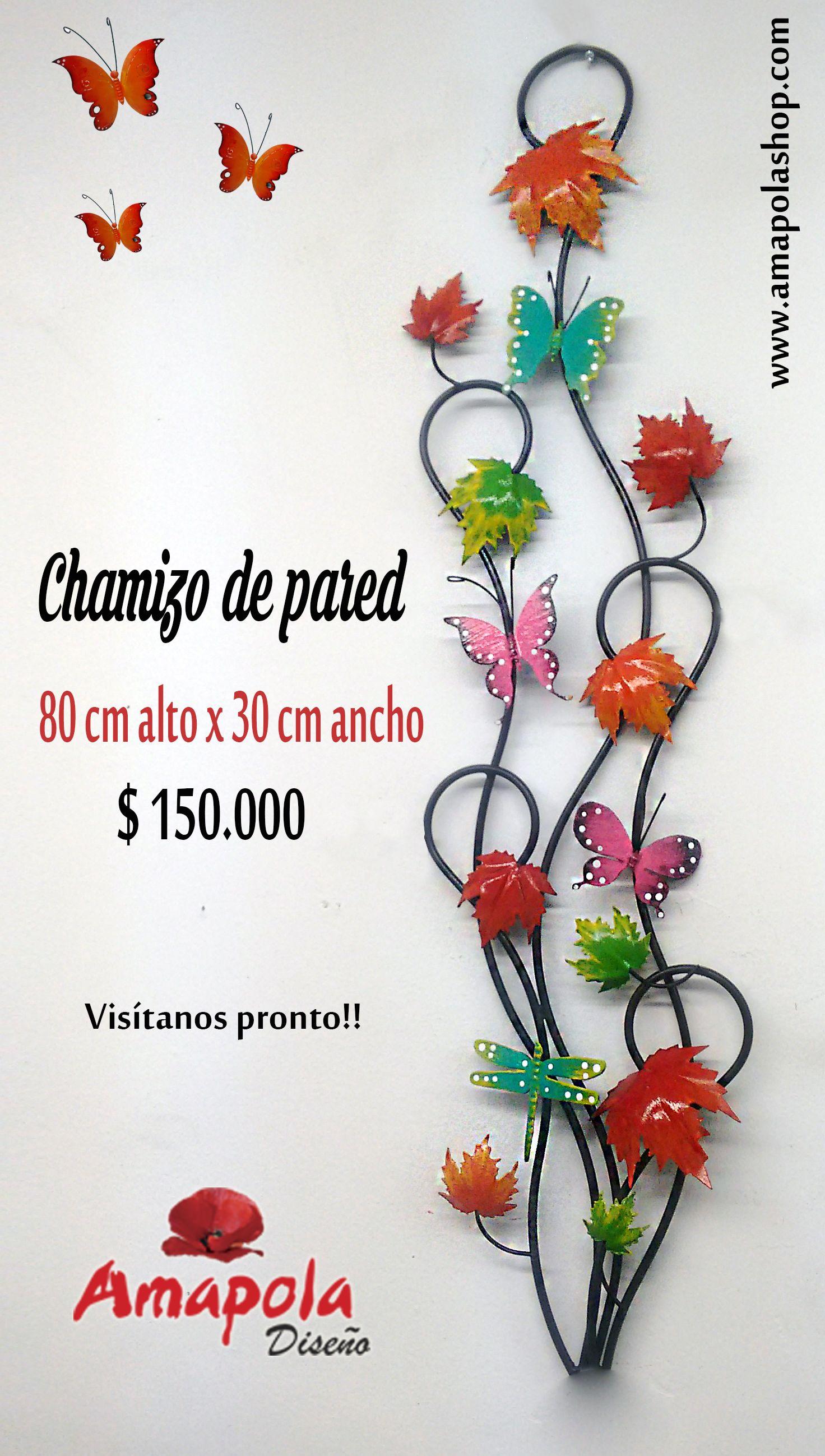 Chamizo decoraci n hojas oto o y mariposas metal hierro - Decoracion con mariposas ...