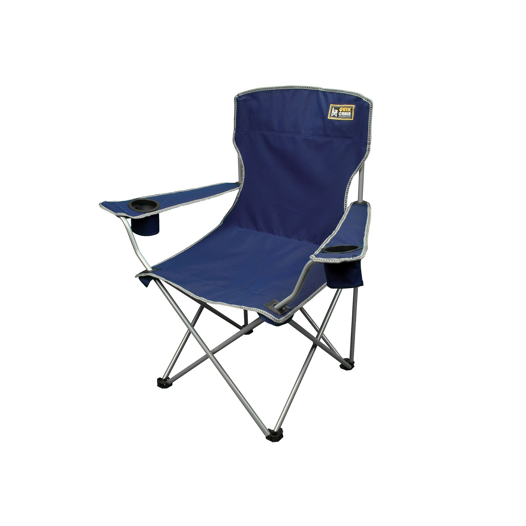 Outdoor Quik Chair Deluxe Quad Folding Camp Chair Blue Navy
