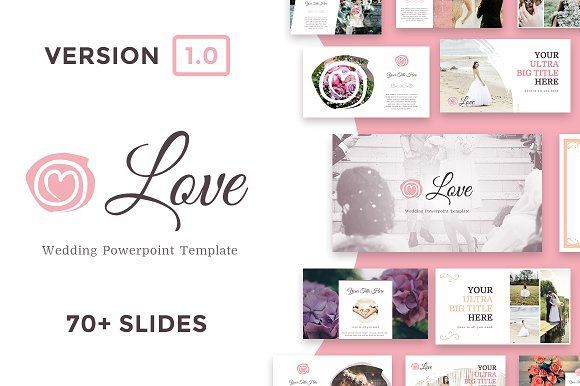 Love  Wedding Powerpoint Template  Presentation Templates